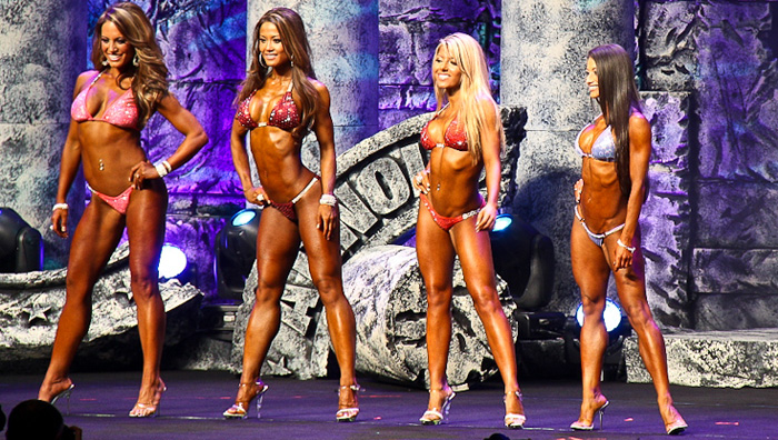<center>The new NPC/IFBB bikini division division: sexy and curvy... firm and lean but not ripped</center>