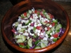 Authentic Greek Salad With Chicken - UPDATED and added to Burn the Fat Meal Planner