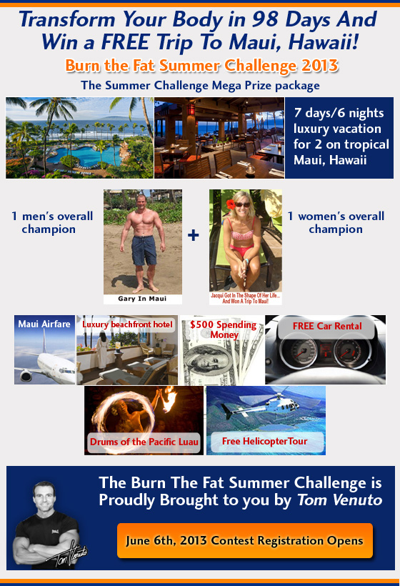 burn the fat summer challenge 2013