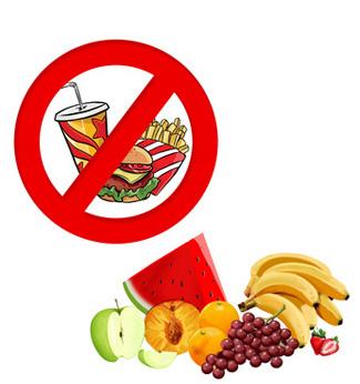 junk food diet vs clean diet